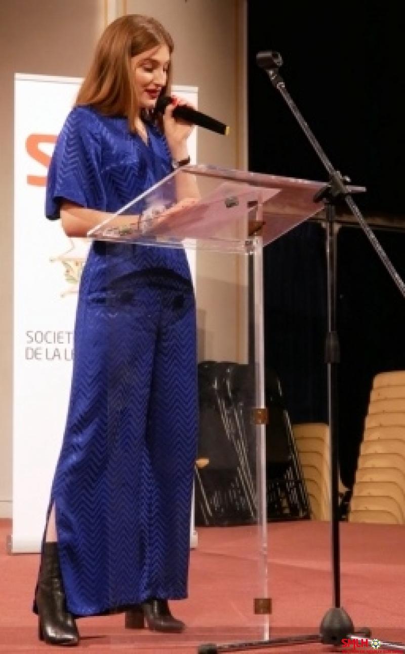 Madame Elise Gillet, boursière 2017, faisant état de son expérience