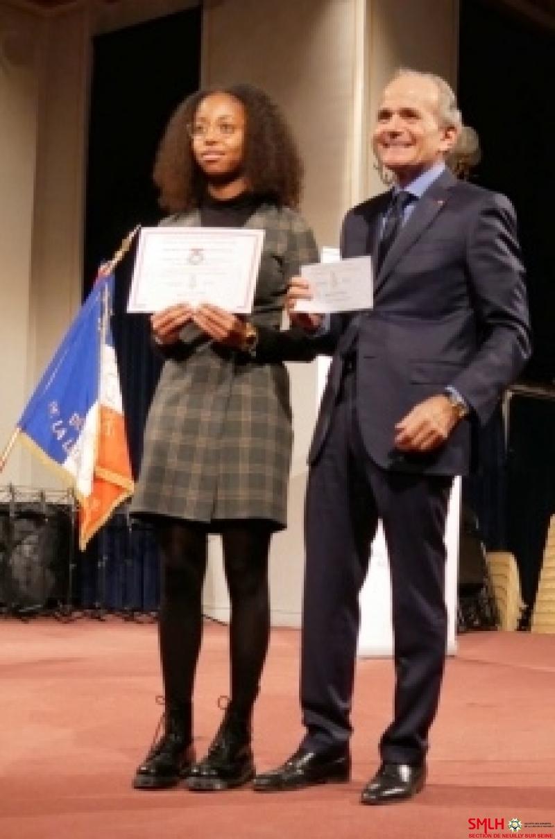 Monsieur Bernard Lepidi et sa filleule Marie Carla Eyidi